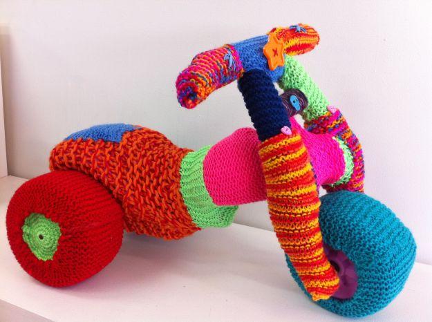 yarn bomb chubby trike