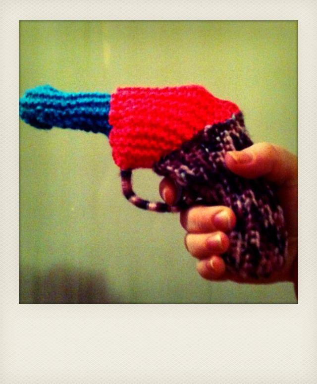 woolen toy gun