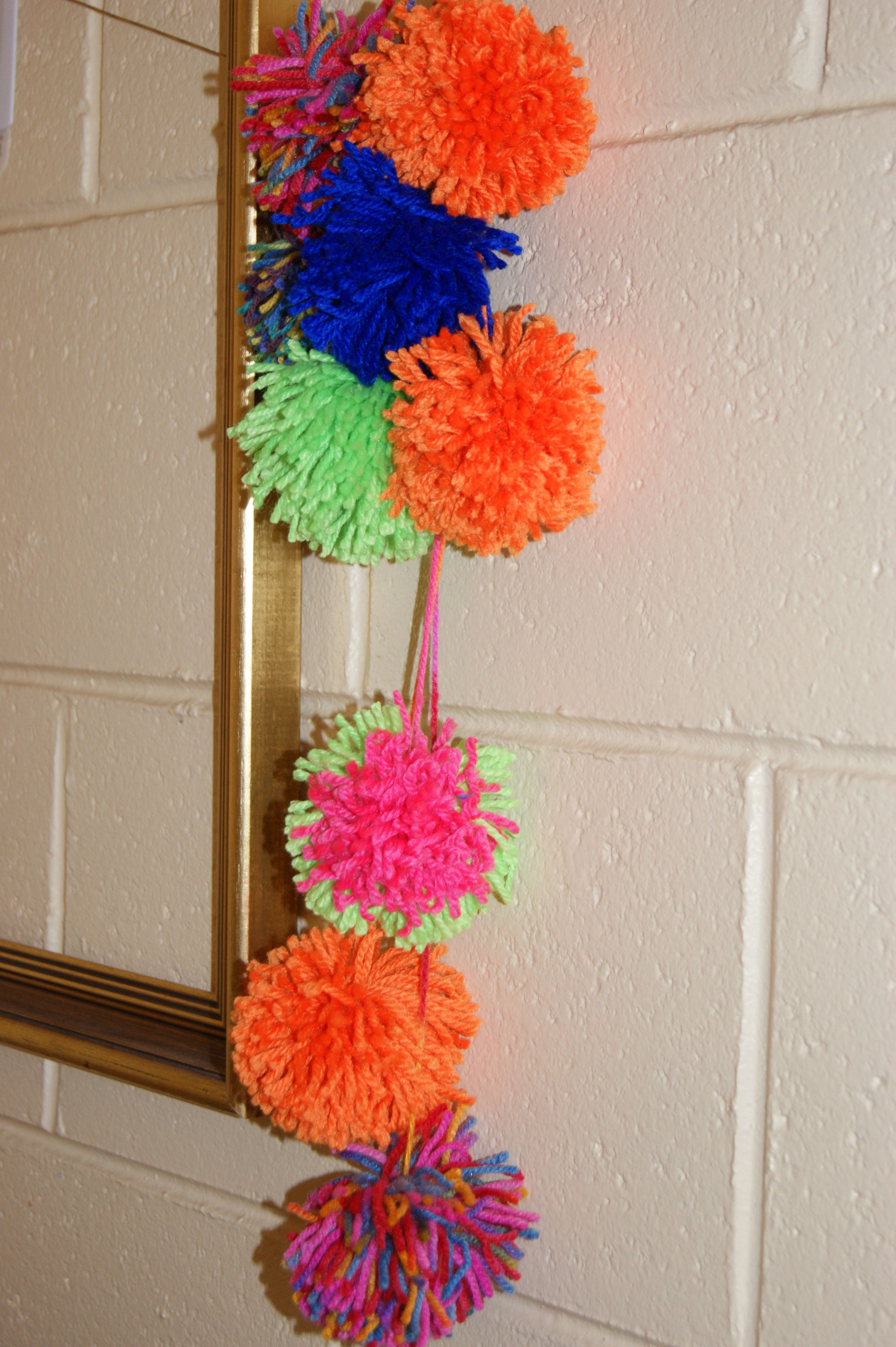 POMPOMS ARE EASY A LOT OF FUN TO MAKE KIDS CAN MAKE THEM SO CAN ADULTS. Things To Decorate Home  universalcouncil info