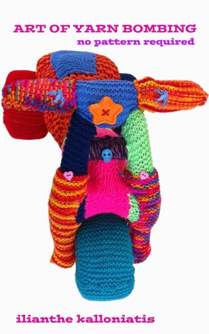 book cover yarn bombing
