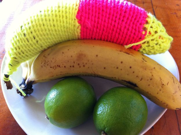 yarn bomb banana