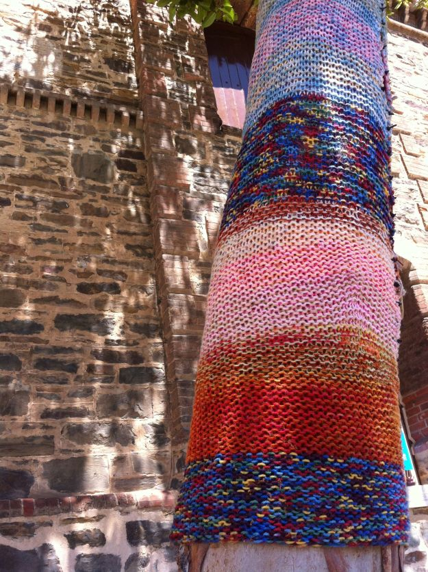 yarn bombed tree 4