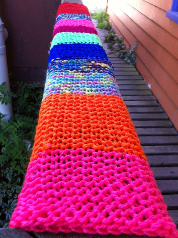 yarn bombing rail 1