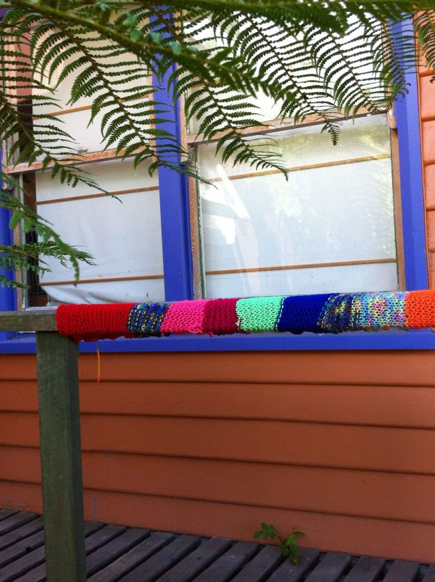 yarn bombing rail 2