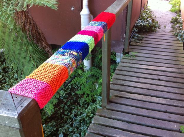 yarn bombing rail 3
