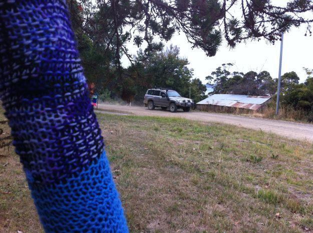 yarn bombing tasmania 1