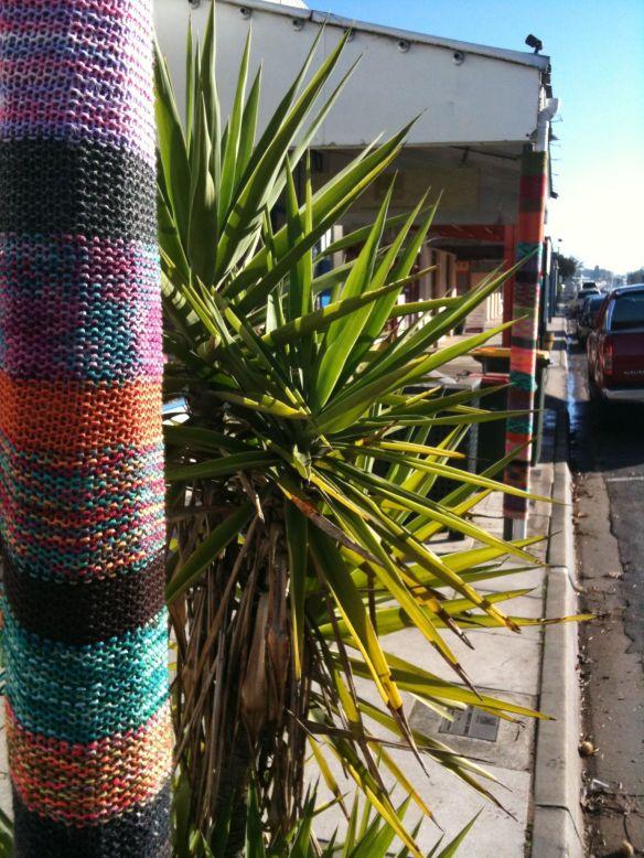 yarn bomb poles