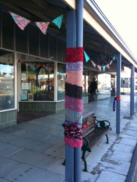 yarn bomb street