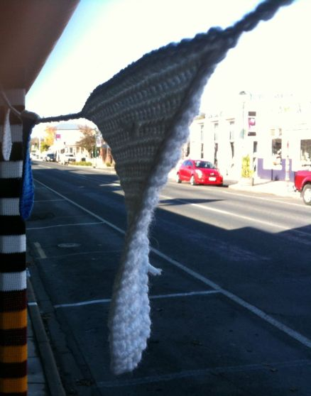 yarn bomb streets