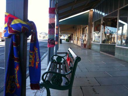 yarn bombing poles 2