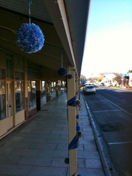 yarn bombing street