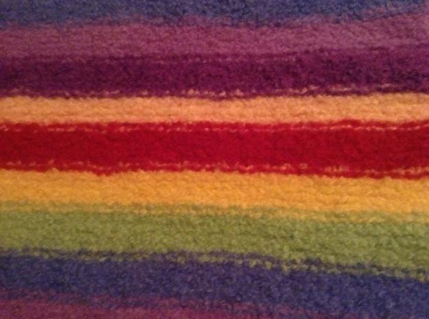 Hand knit felt placemat
