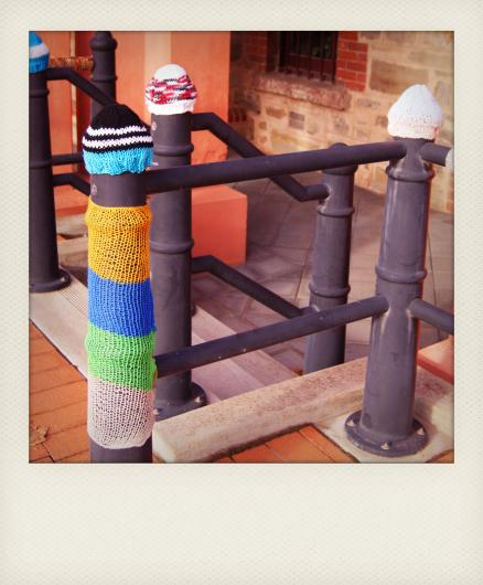 yarn bombing polaroid 1