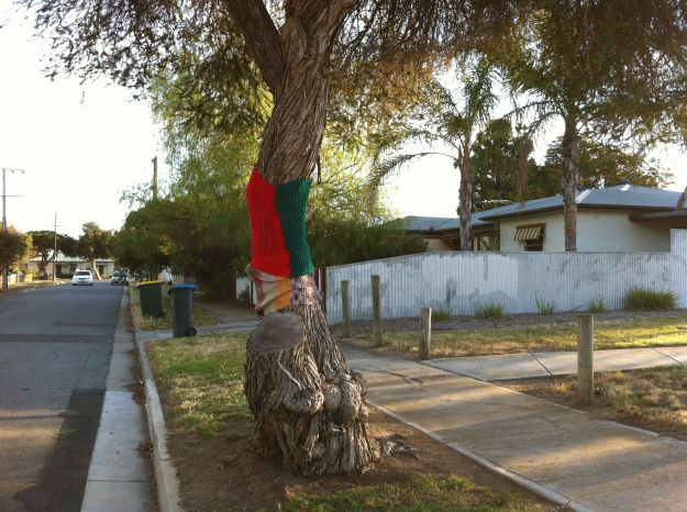 christmas yarn bombing 2