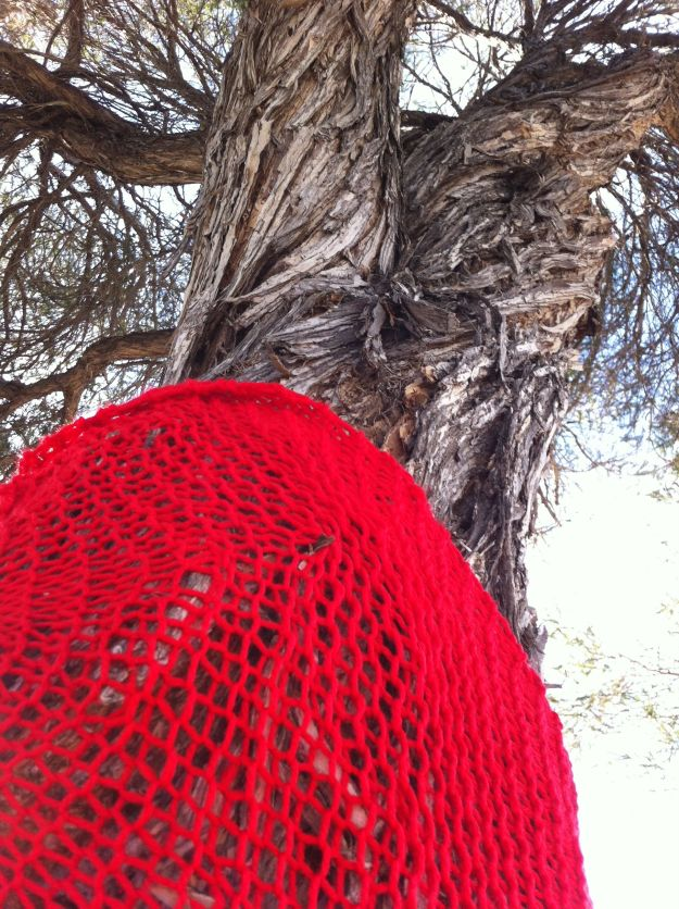 christmas yarn bombing tree 4