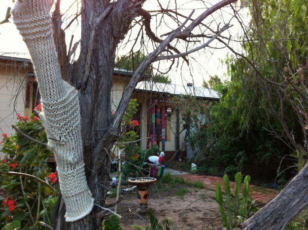 yarn bomb tree jumper