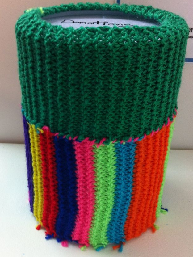 yarn bomb money box