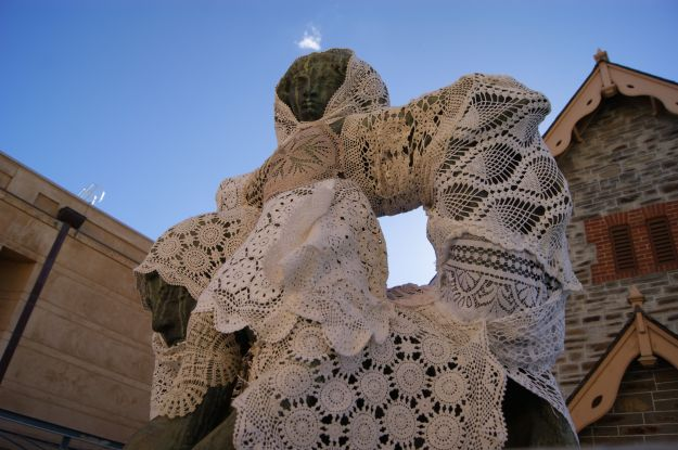 yarn bombing lace