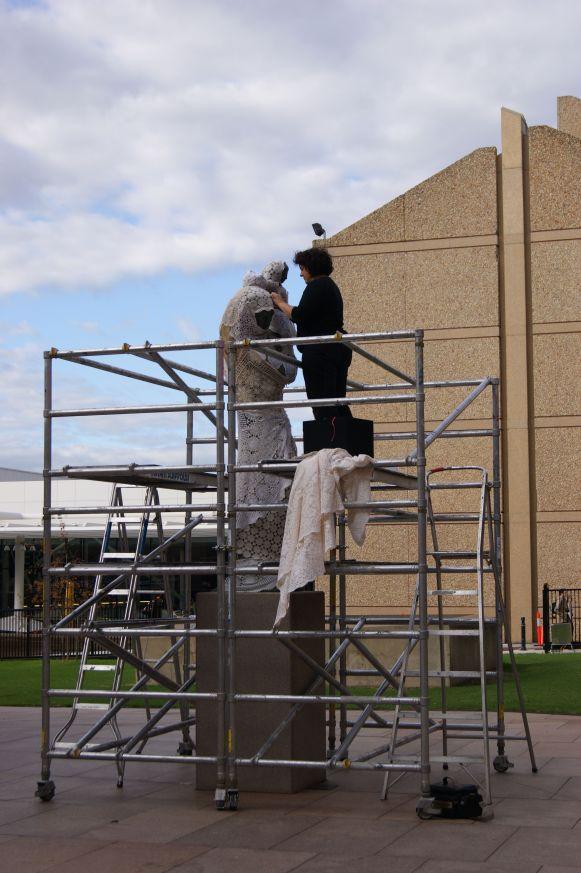 yarn bomb scaffold