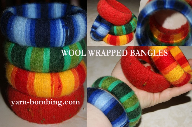 yarn bomb bangle mix