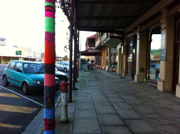 yarn bomb pole