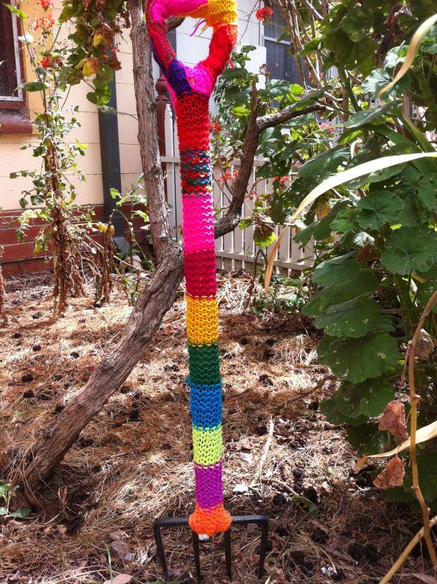 yarn bomb fork