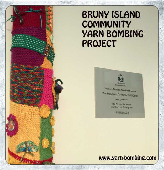 bruny island health centre yarn bombing